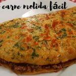 Receta con carne molida y huevo en sartén - Recetas de cocina fácil y rápido