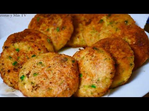 Tortitas de Pollo Doradas por Fuera y Suavecitas por Dentro-Truco para que no se te desbaraten