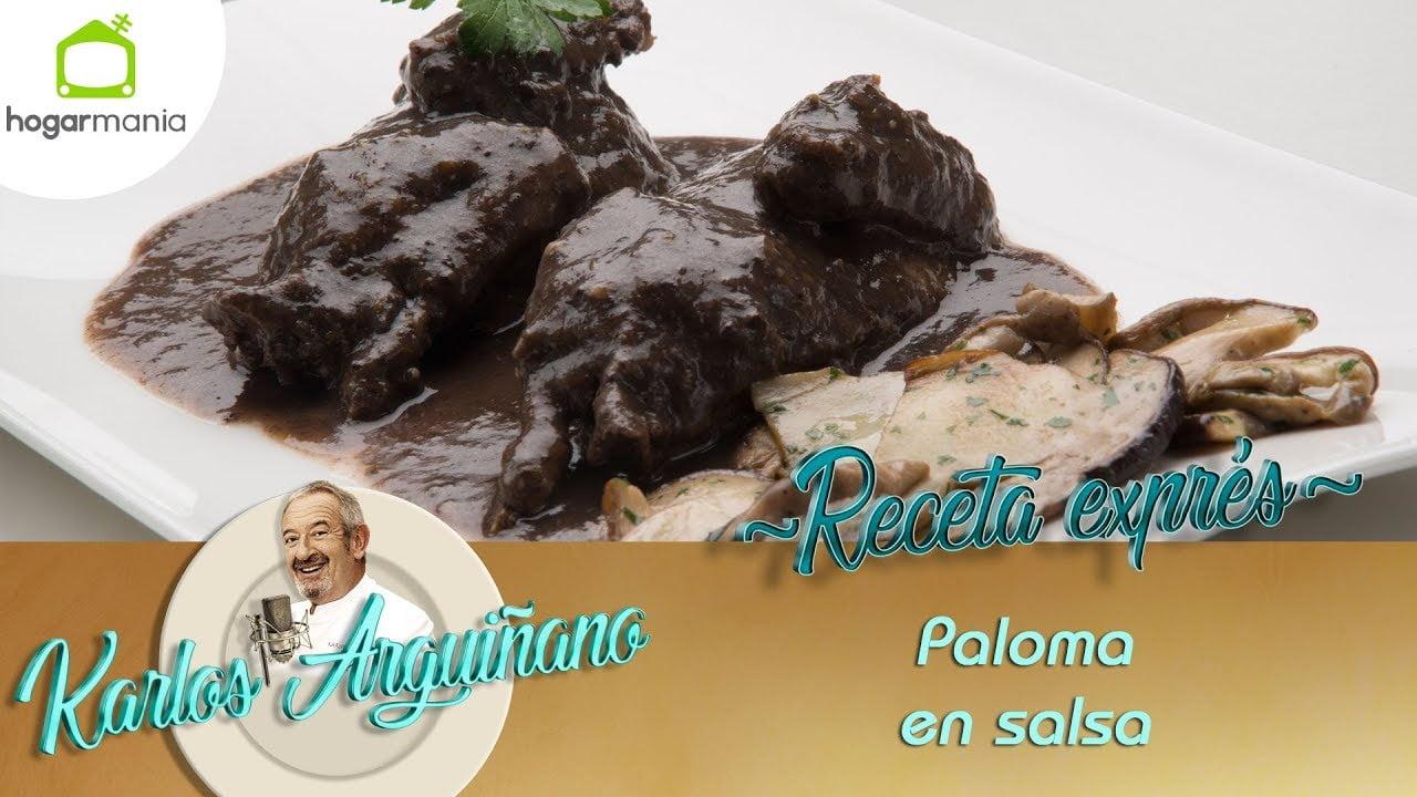 Receta de Paloma en salsa por Karlos Arguiñano