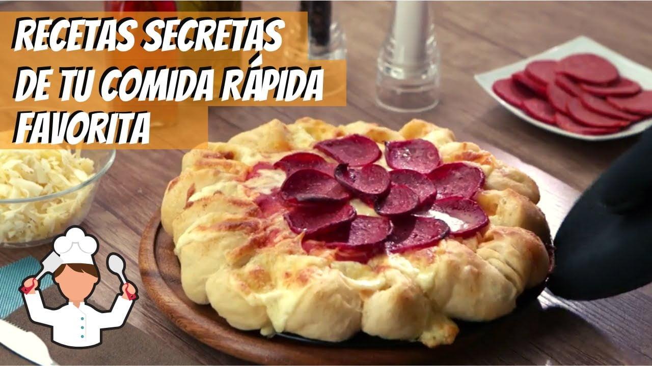 Recetas de tus restaurantes favoritos: Hamburguesas | Pizza con orilla de queso | VIX Yum