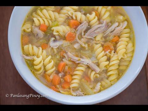 Receta de sopa de pollo con fideos   Cómo cocinar sopas de pollo »Wiki Ùtil Panlasang Pinoy