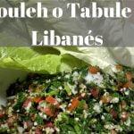 Receta de tabbuleh o tabule | Ensalada de comida Libanesa original