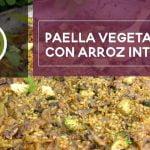Receta de paella vegetariana con arroz integral