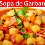 Sopa de Garbanzos | #VickyRecetaFacil
