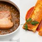 Crepes de verduras - Lentejas con panceta fresca - Cocina Abierta de Karlos Arguiñano