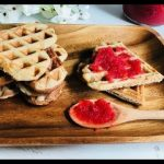 Waffles ( Gofres ) SIN GLUTEN Con Mermelada De Fresa / Waffles Veganos Sin Huevos