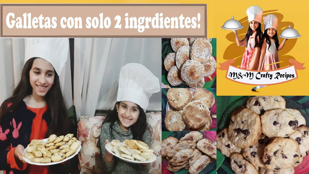 Galletitas con solo #2ingredientes.#recetas #cocina #niñascocinando